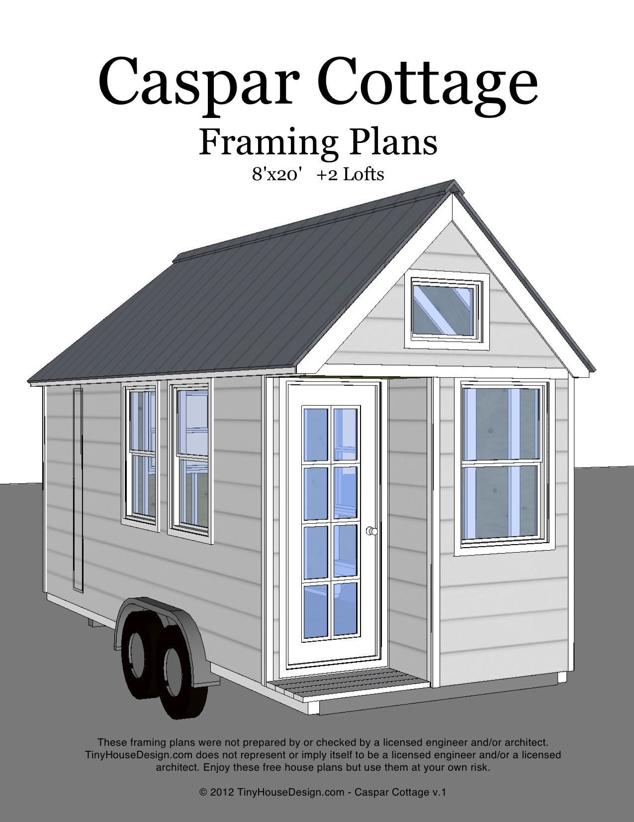 Caspar Cottage 8x20 Cover With Images Cheap Tiny