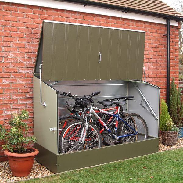 Great Trimetals Green Outdoor Heavy Duty Steel Bicycle Storage Locker