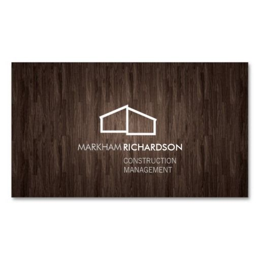 Modern home logo on wood for construction realtor business card modern business card template for real estate realtors construction property management architects reheart Choice Image