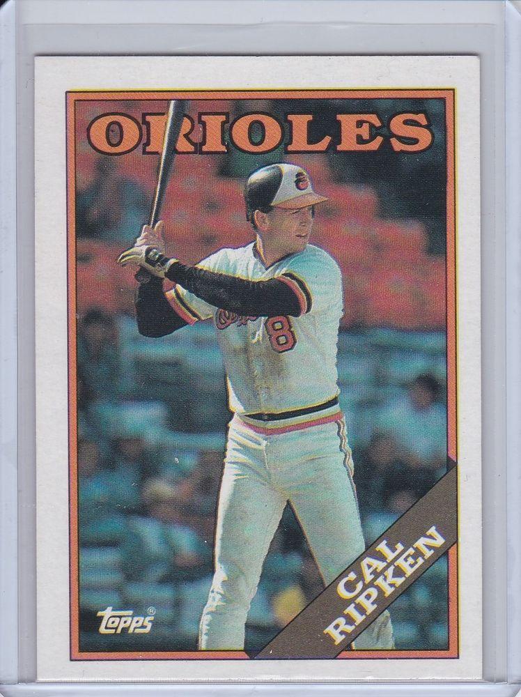 1988 topps cal ripken baltimore orioles baseball card no