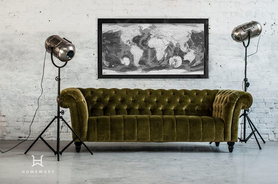 Sofa CANYON By Gutmann Factory Eisen Vernickelt Woody