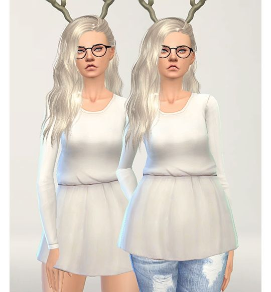 Long sleeve cotton tunic at Puresims via Sims 4 Updates