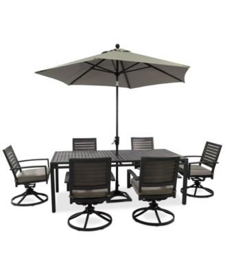 marlough outdoor aluminum 7 pc dining set 84 x 42 dining table rh pinterest com