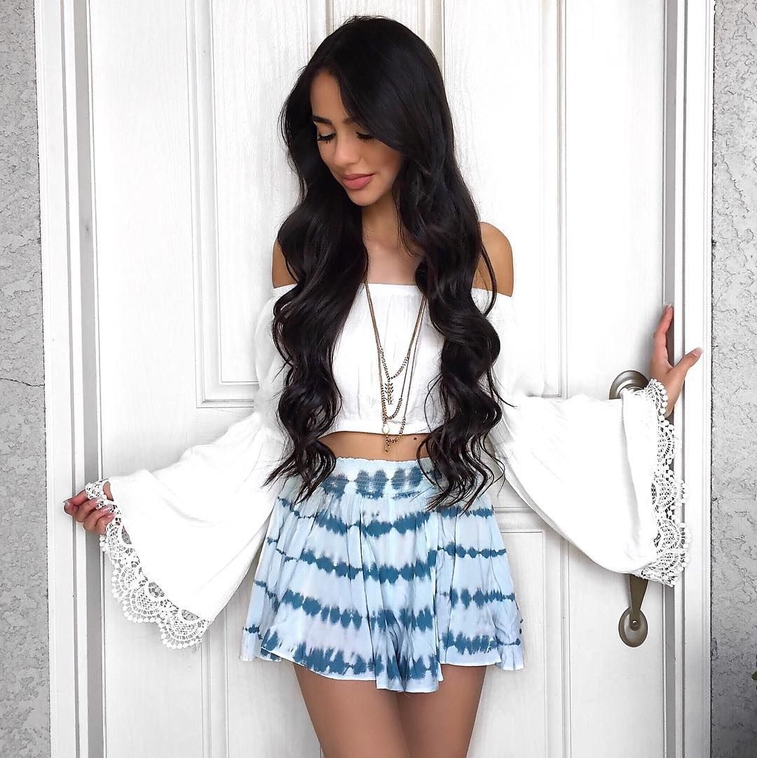 First Date Outfit and Hairstyles. Loving @xoalyynicole long ...