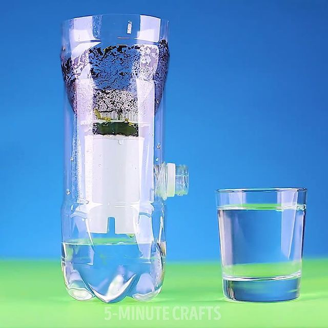 Easy Diy Water Filter Made From A Plastic Bottle