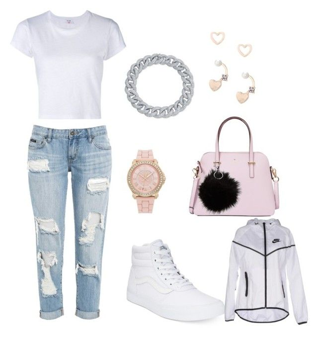 """""""#theflex"""" by akb03-1 on Polyvore featuring Vans, Juicy Couture, RE/DONE, Kate Spade, Lipsy and NIKE"""