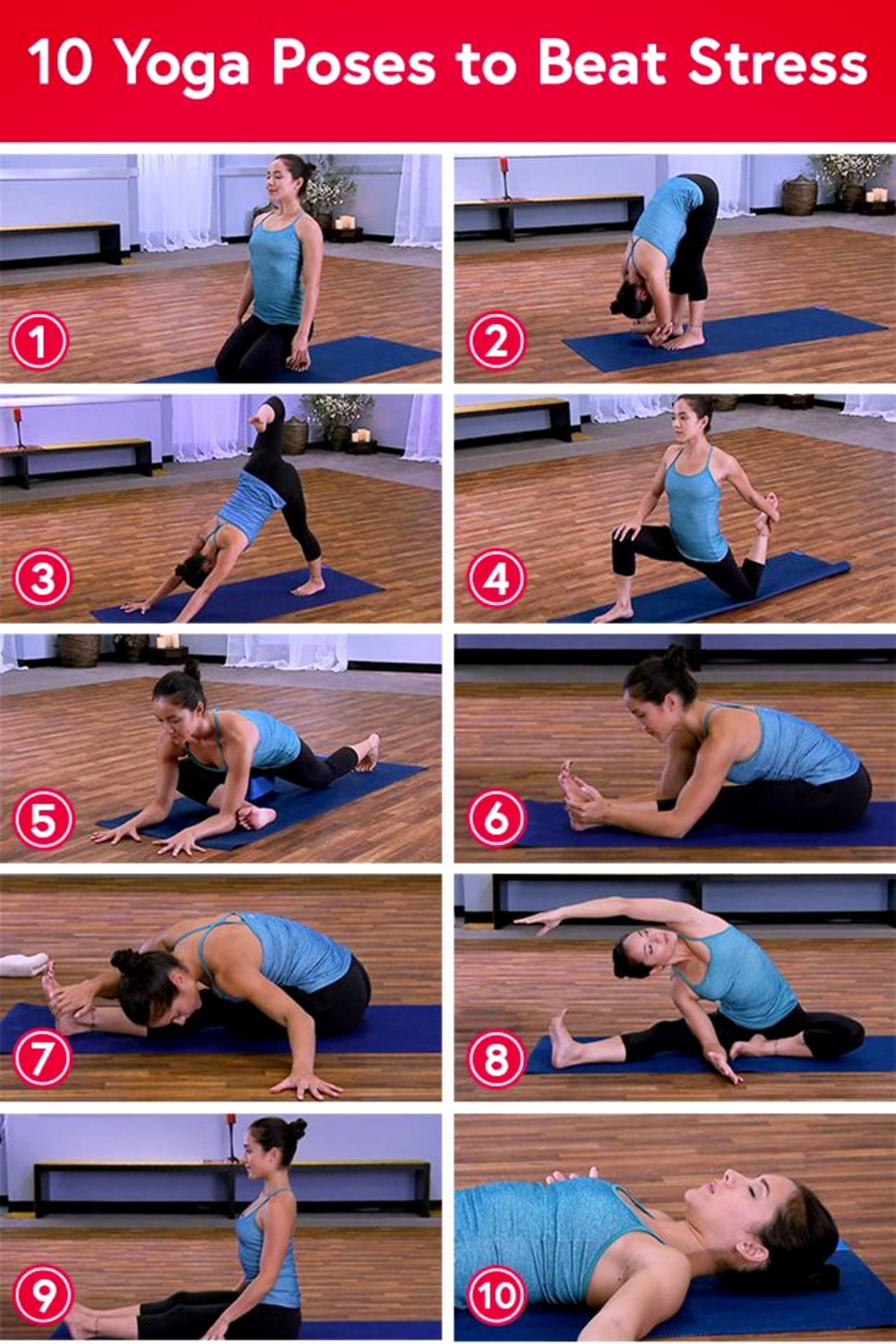 Easy Yoga Poses For Stressed Out Moms Yoga Poses For Beginners Yoga Poses For Beginners Easy Yoga Poses Stress Yoga