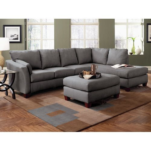 Sylvette 78 5 Reversible Sofa Chaise With Ottoman In 2020 Couches For Small Spaces Grey Sofa Living Room Sofas For Small Spaces