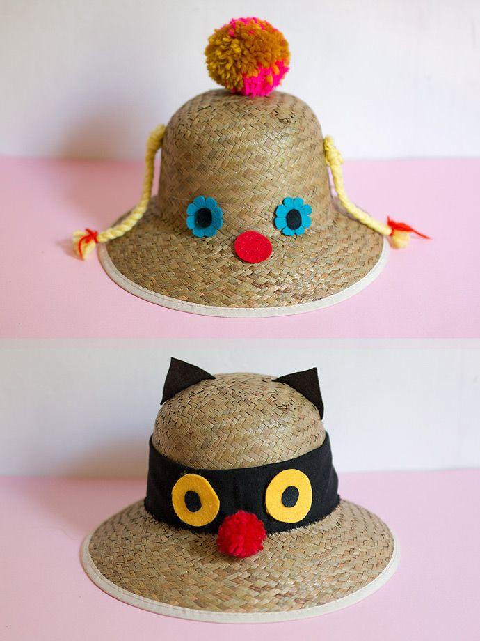 Spend the last bit of summer in a Funny Faced Sunhat DIY  misakomimoko for   followcharlotte 225241adddf