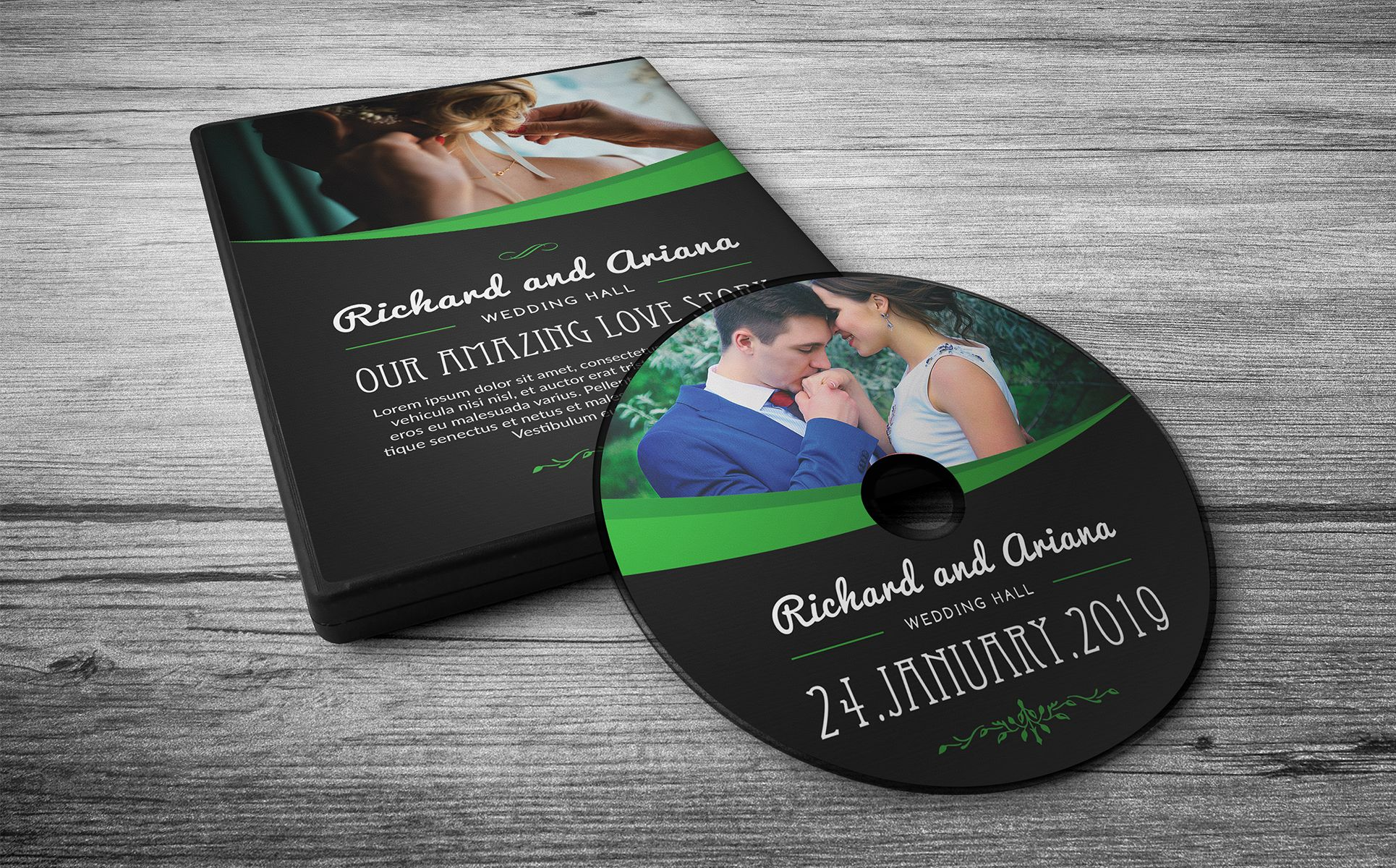 Wedding DVD Cover (Dark & Light Version) Corporate