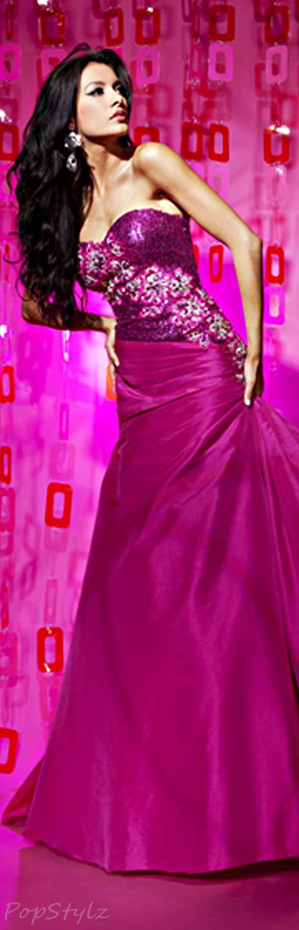 Tony Bowls Evening Gown | Moda (2) | Pinterest | Fucsia, Magenta y ...