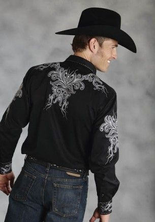 8e334df3 Rodeo Tattoo : Men's Embroidered Cowboy Shirt | My Style | Mens ...