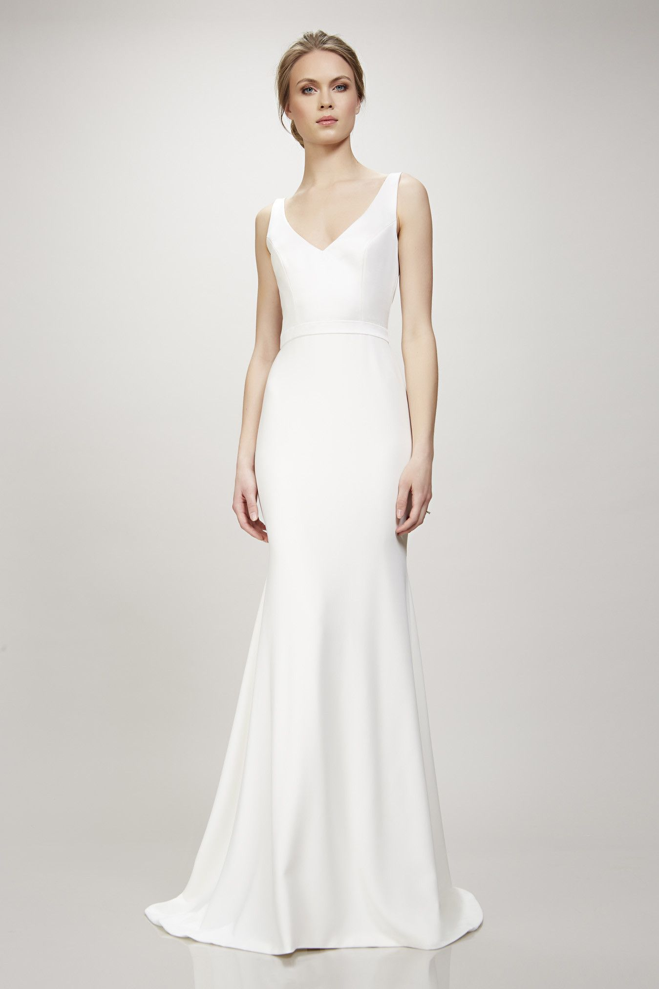 V Neck Wedding Dress Sleek By Theia Couture Orlando Fl