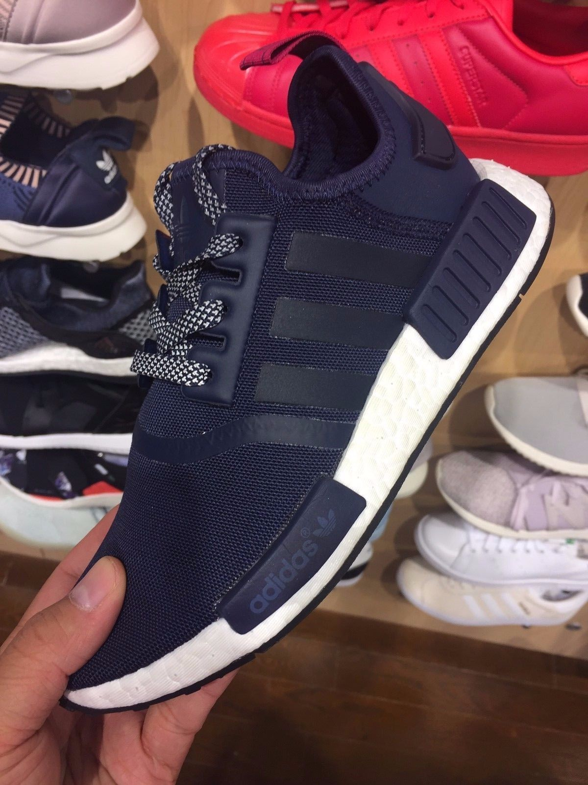promo code c0f31 71c26 Adidas Nmd R1 Navy White Women Sizes