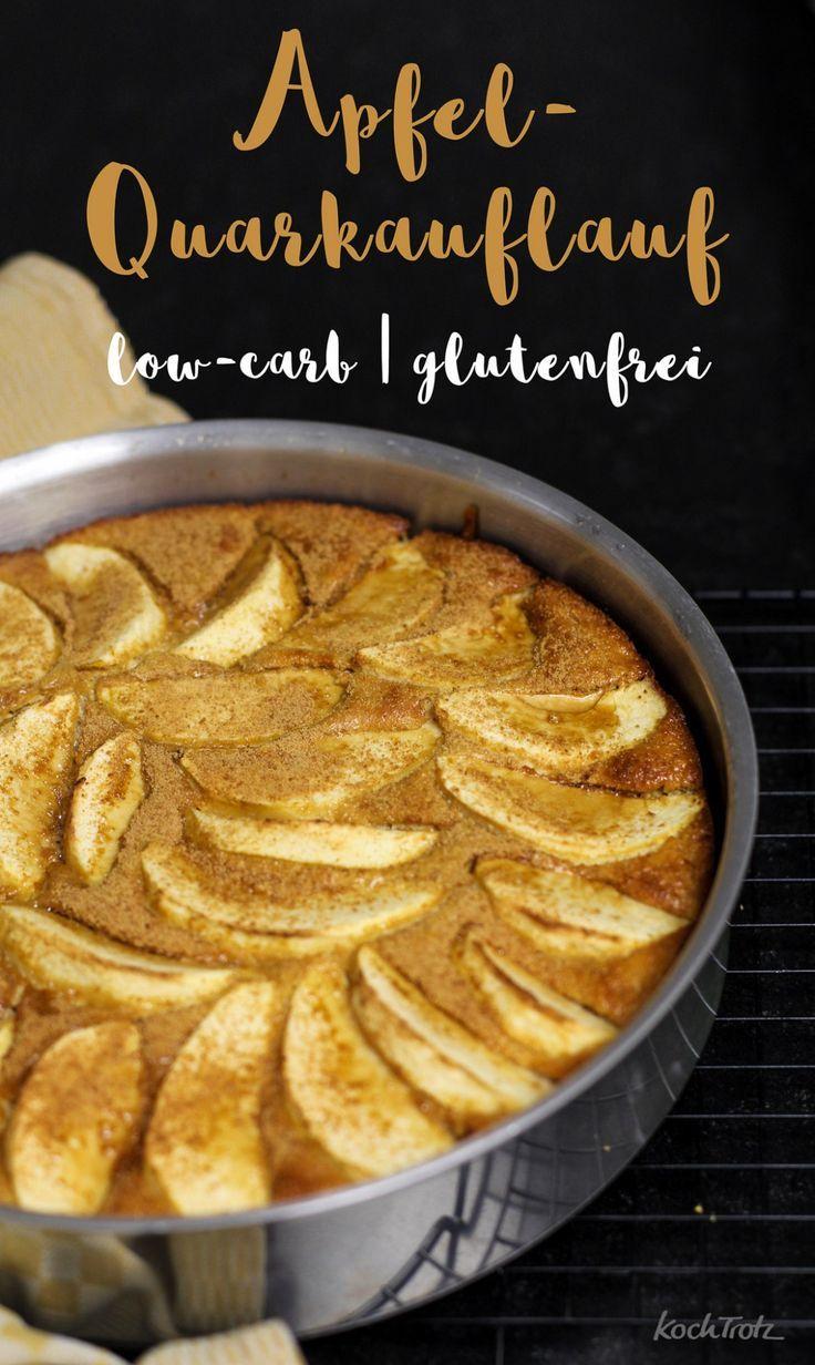 Apfel-Quark-Auflauf   optional glutenfrei und low-carb - KochTrotz   kreative Rezepte #newgrandma