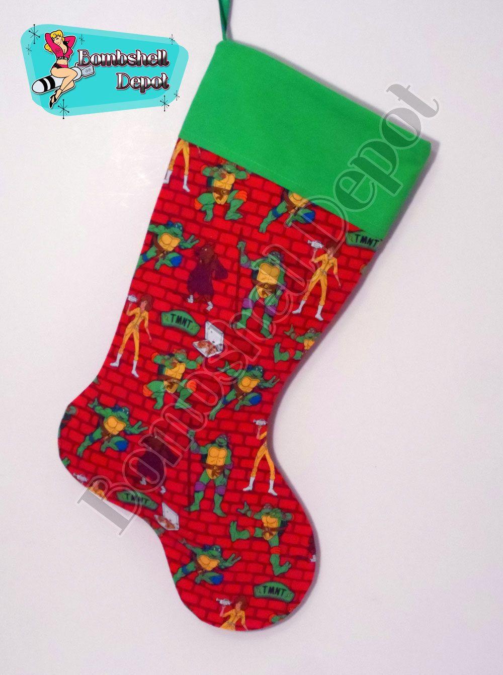 Teenage Mutant Ninja Turtle Brick Fully Lined Christmas Stocking ...