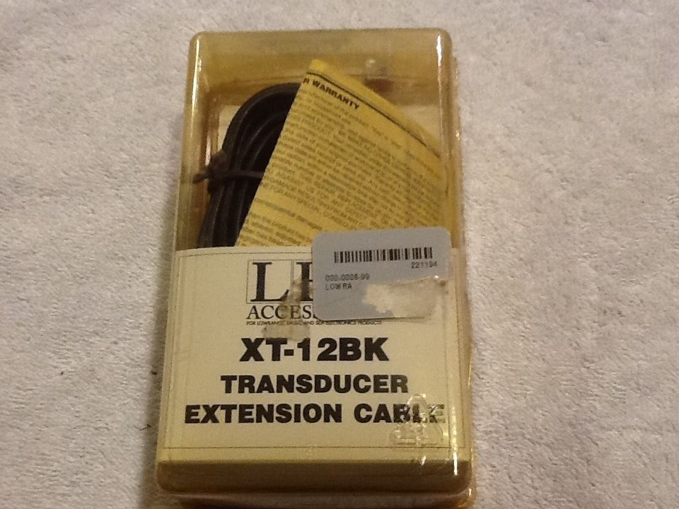 NEW NOS LEI LAWRANCE EAGLE XT12BK TRANSDUCER EXTENSION
