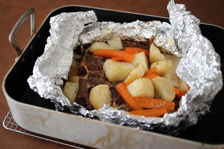No Mess Budget Steak And Dinner In A Foil Packet Recipe Chuck Steak Recipes Baked Dishes Foil Packet Meals
