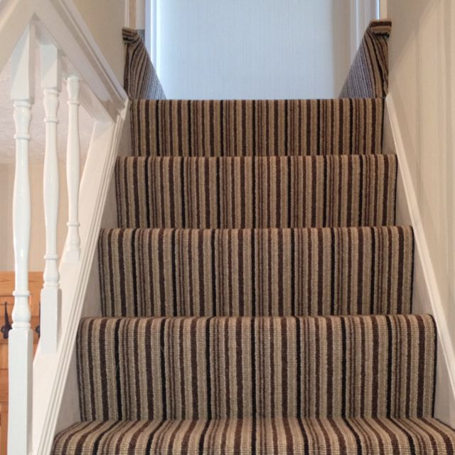 Pin By Daniel Franks On Stairs With A Stripe Carpet Stairs Striped Carpet Stairs Living Room Carpet