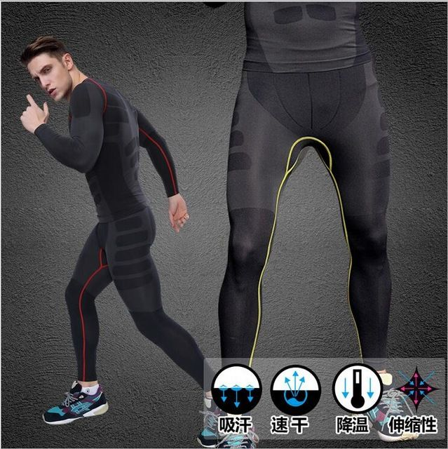 Men/'s Compression Leggings Workout Base Layer Sportswear Quick-dry Wicking Tight