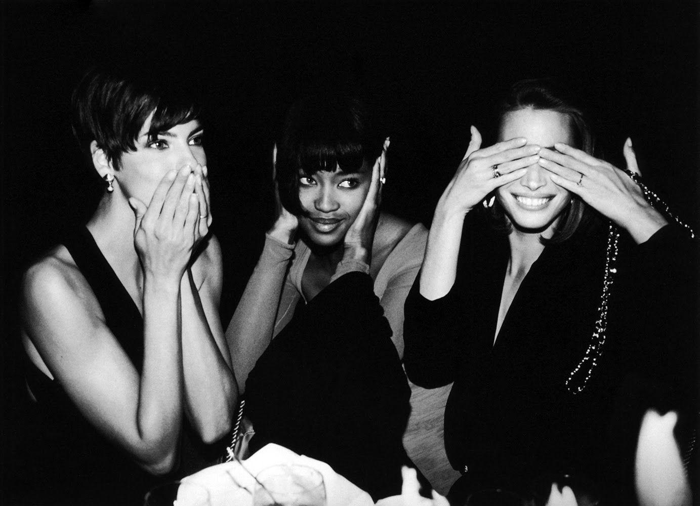 Linda Evangelista, Naomi Campbell and Christy Turlington Roxanne Lowitt, 1989