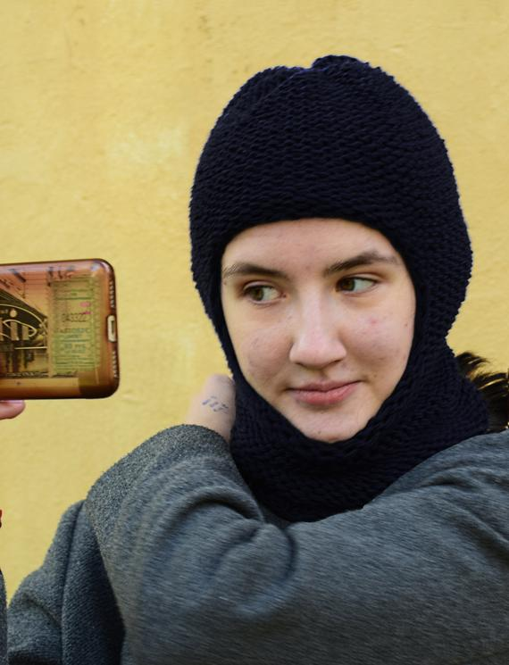 f4edcfb9eb5 Ski mask Balaclava hat wool knit helmet winter face mask womens mens adult  hand knit baklava hood b