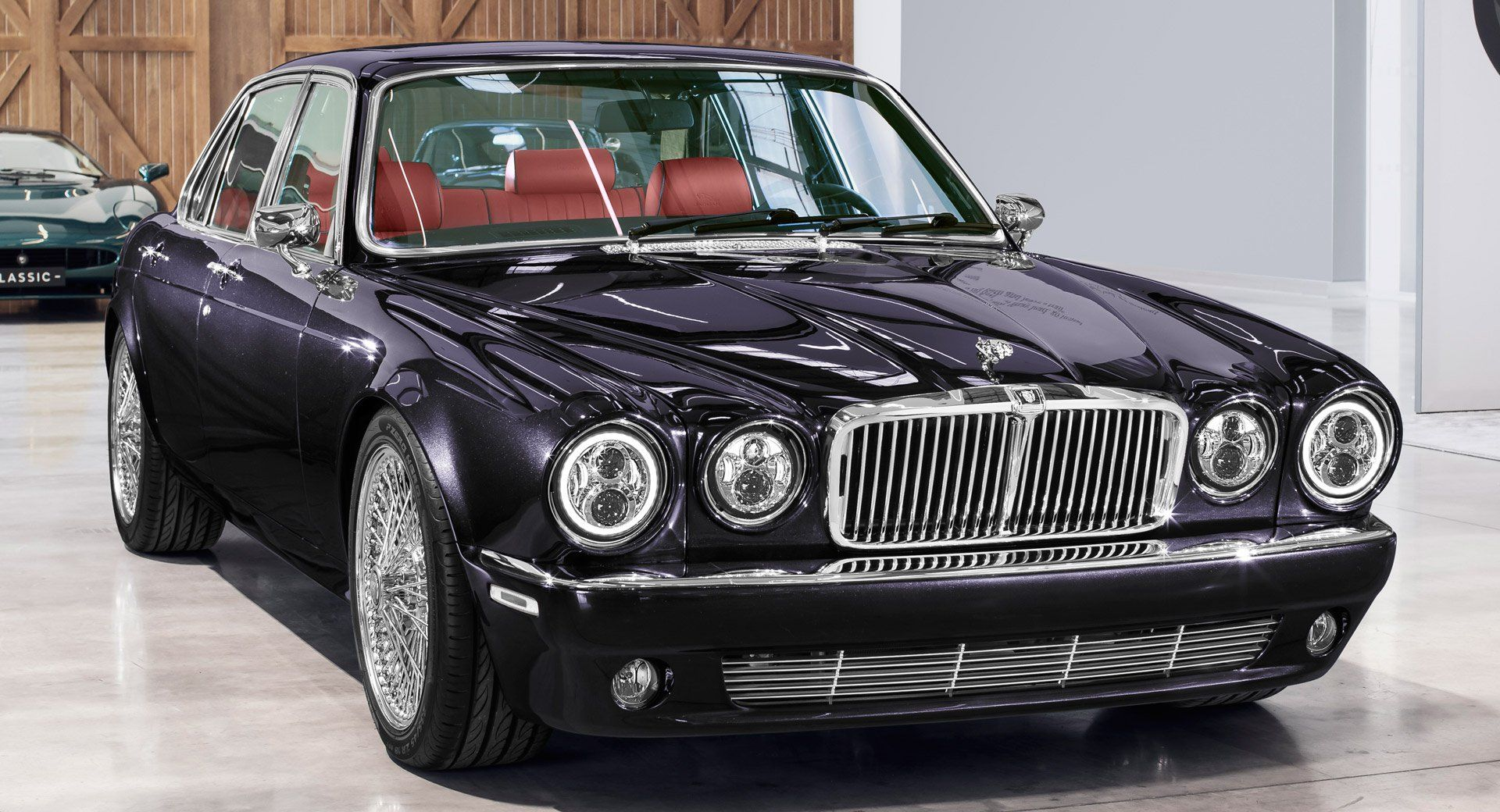 Jaguar Classic S Xj6 Restomod Is Rock Roll On Wire Wheels