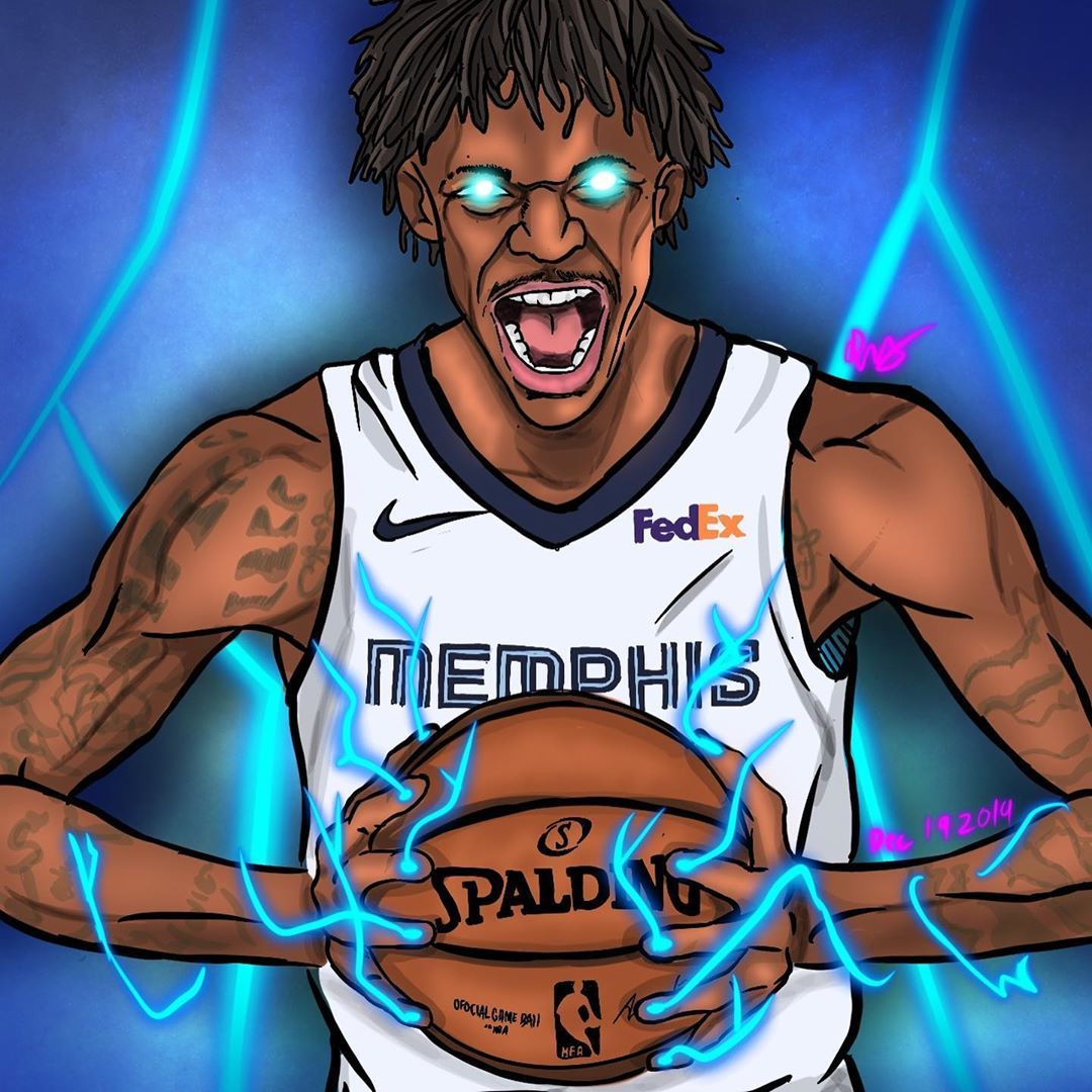Get your Free NBA Jersey Gift Ja Morant drawing/artwork