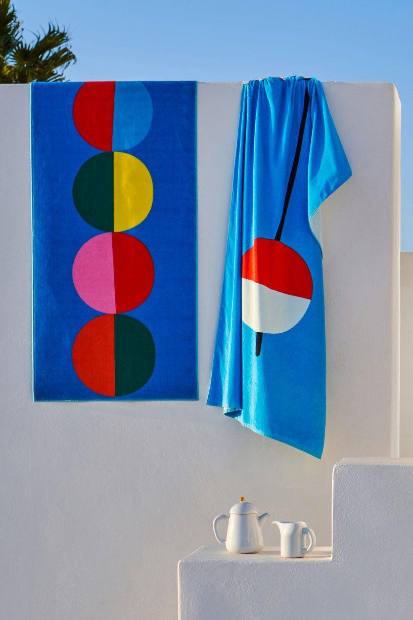 Vagsjon Serviette De Bain Bleu Fonce 28x55 70x140 Cm