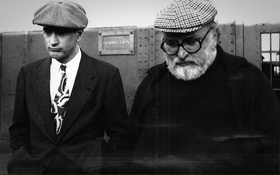 Sergio Leone & Robert De Niro on the set of Once Upon a Time in America