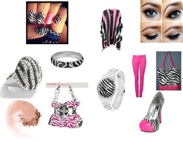 """Zebra"" by mckalawilliams on Polyvore"