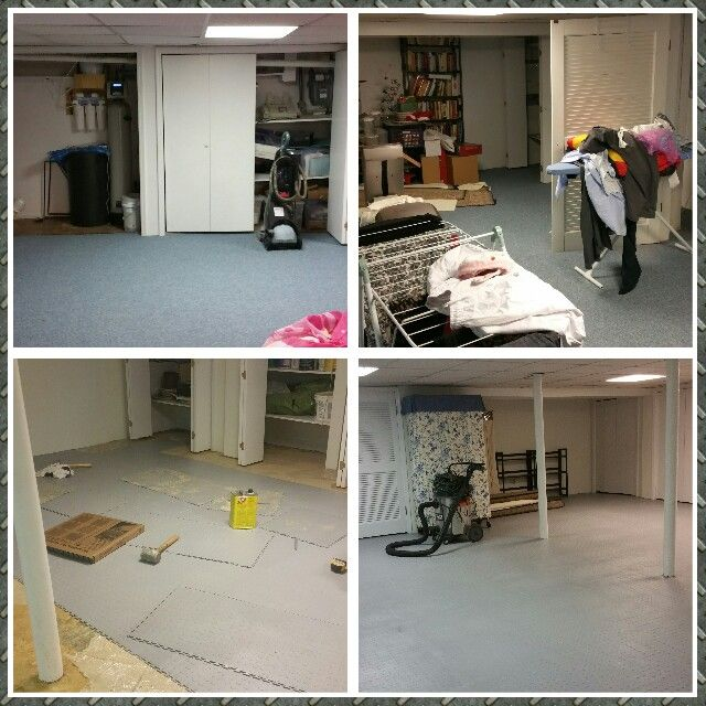 Custom Basement Flooring By Magic Garage Cleaners. Free