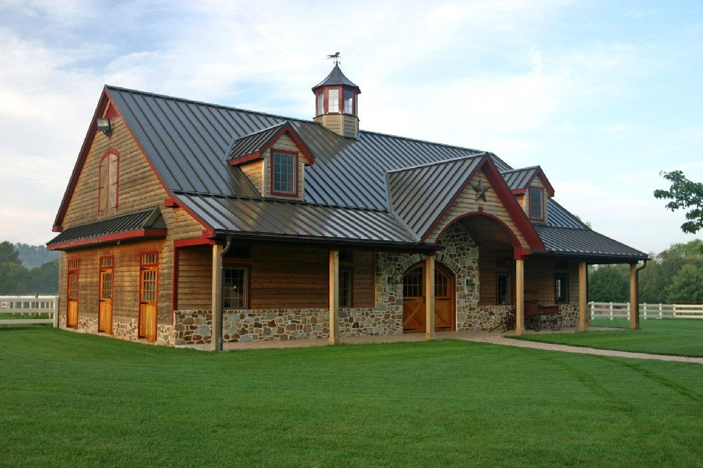 With living quarters pole barn house plans and prices new for Metal roof home plans
