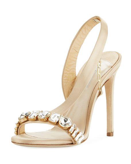 20f741b75 Amazone Jeweled Asymmetric Slingback Sandal