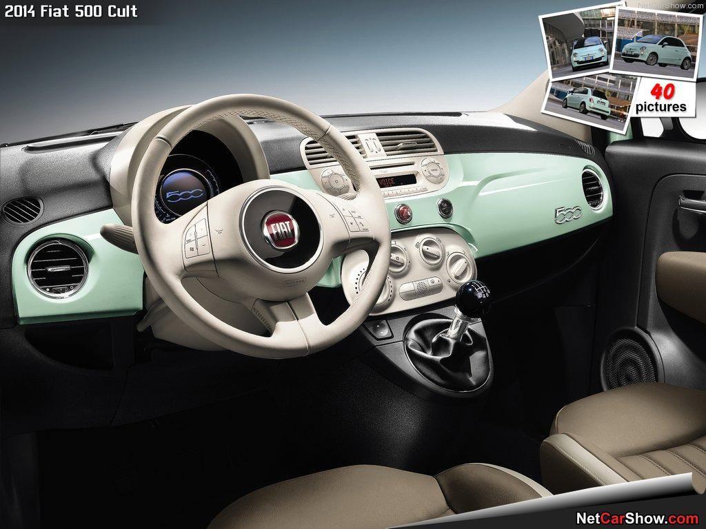 Green Interior Fiat 500 Fiat Fiat Cars