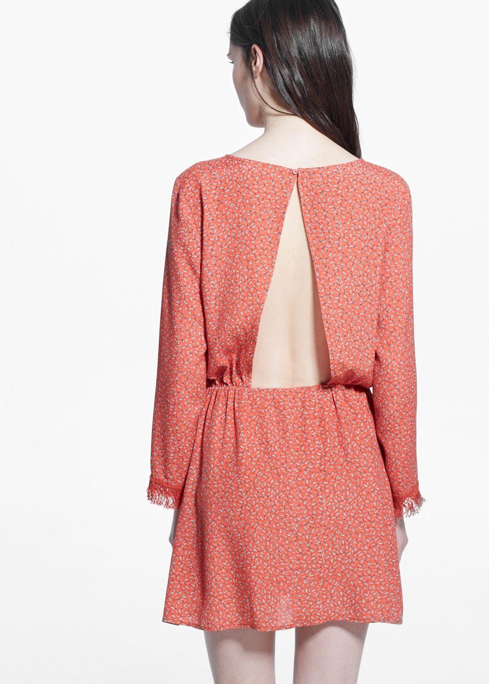 Платье с принтом пейсли | MANGO