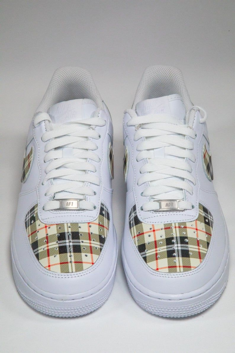 Burberry Air Force 1 Etsy in 2020 Nike air shoes, Nike