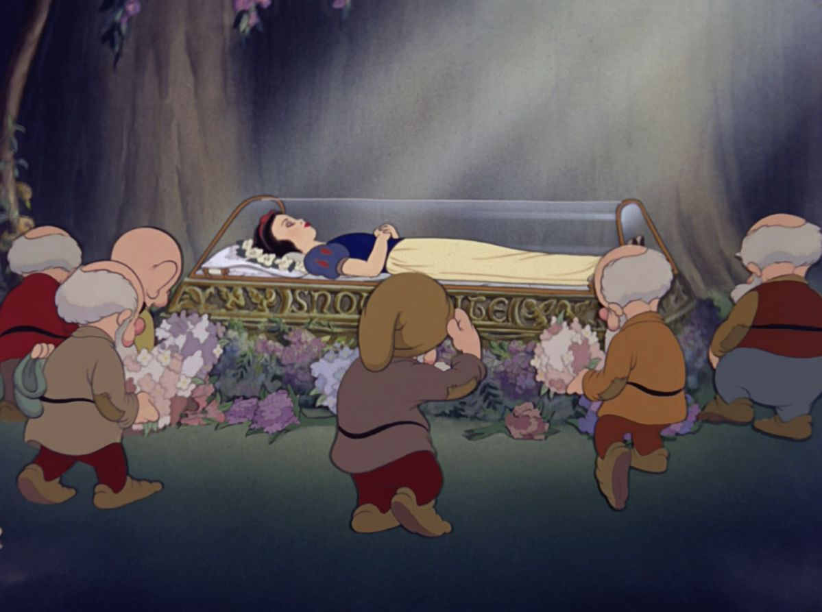 Image result for snow white sleeping
