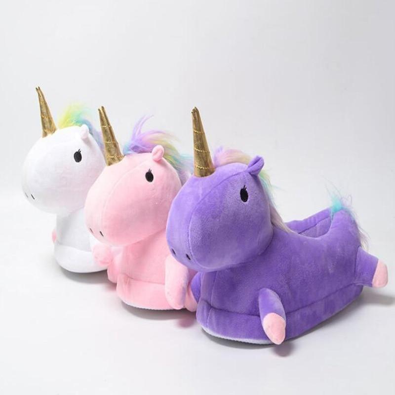Unicorn Slippers Chausson Licorne Pantufa Unicornio Ciabatte ...