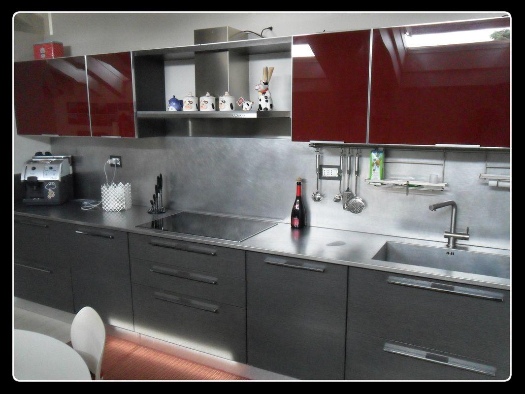 Formarredo due lissone monza e brianza milano cucina arredo3 piano cottura a induzione - Piano lavoro cucina acciaio ...