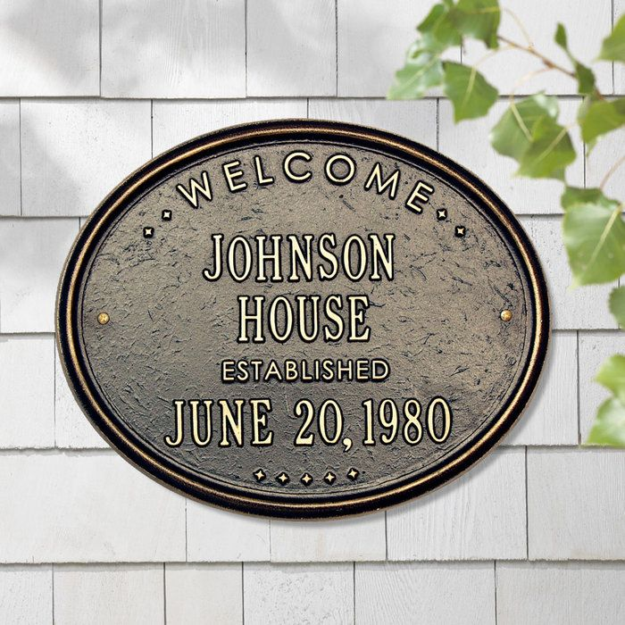 Personalized Welcome House Plaque At Brookstone Buy Now House