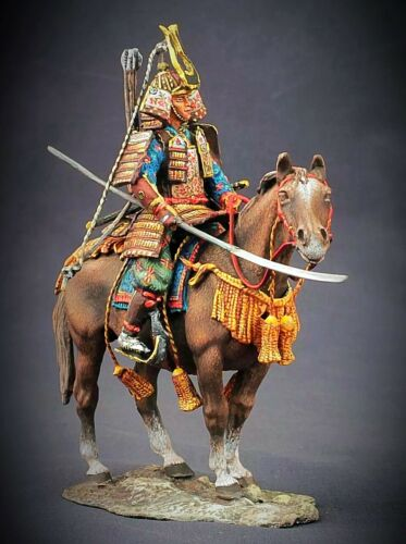 Tin toy soldier 54 mm Superb Elite painting in St.Petersburg.The Samurai