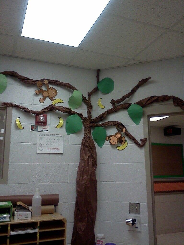 My classroom had a monkey theme