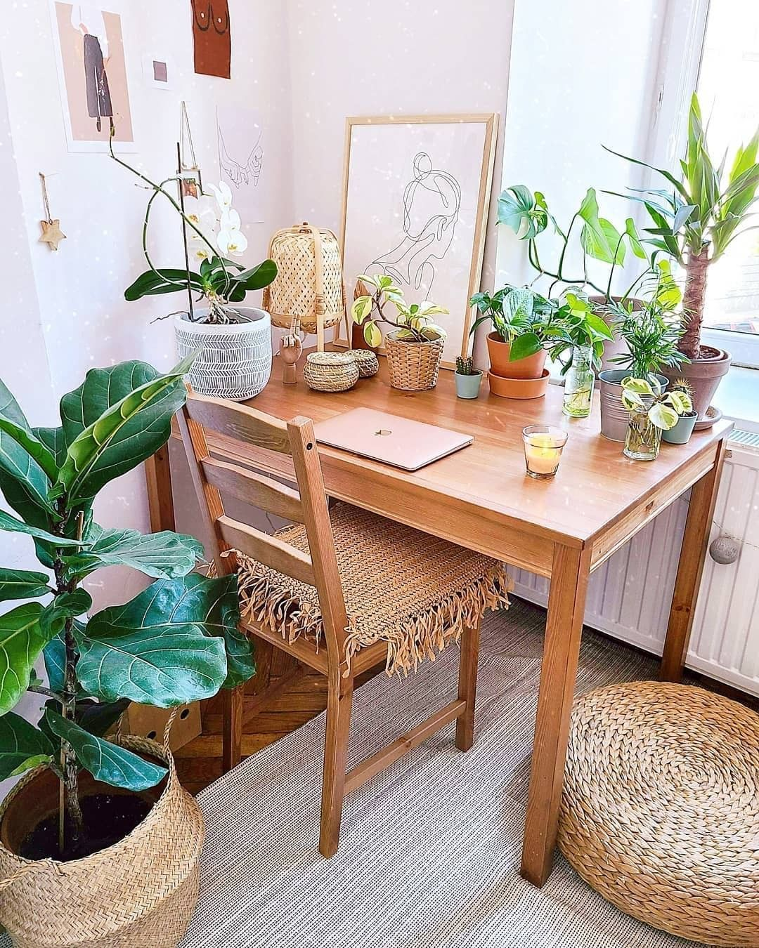 Fy On Instagram Cute Bright Working Space Via Interioryesplz Shop This Home Office Look By Foll Flat Decor Aesthetic Room Decor Study Desk Decor