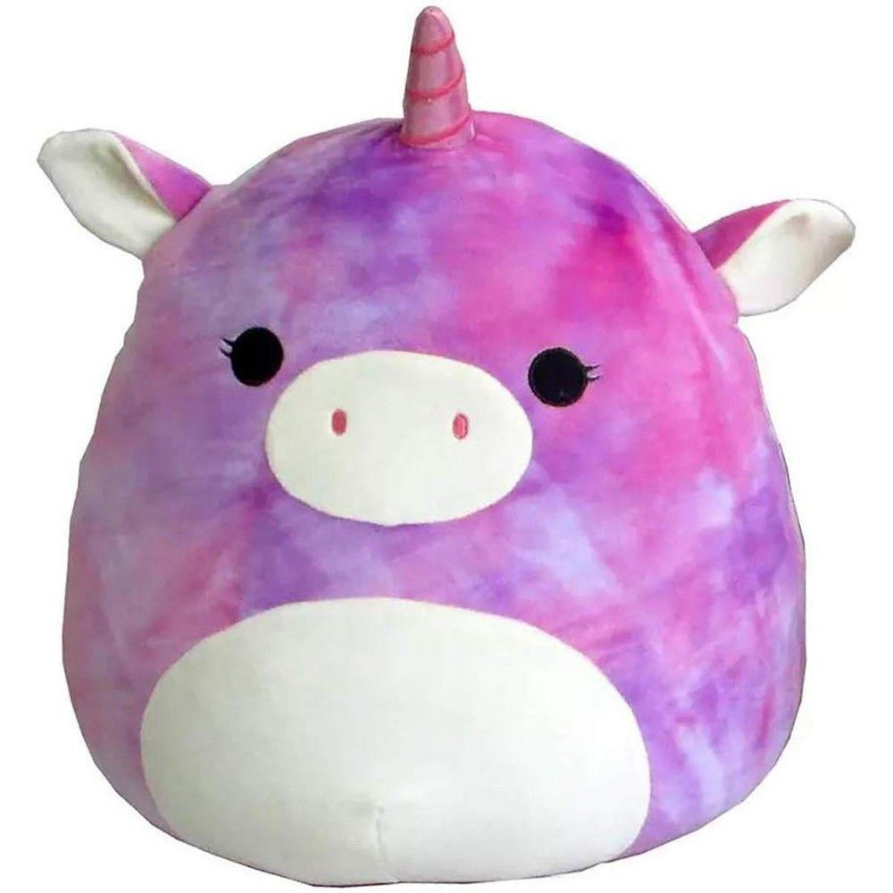 Squishmallows 24 Inch Plush Purple Tie Dye Unicorn Animal Pillows Pillow Pals Cute Stuffed Animals