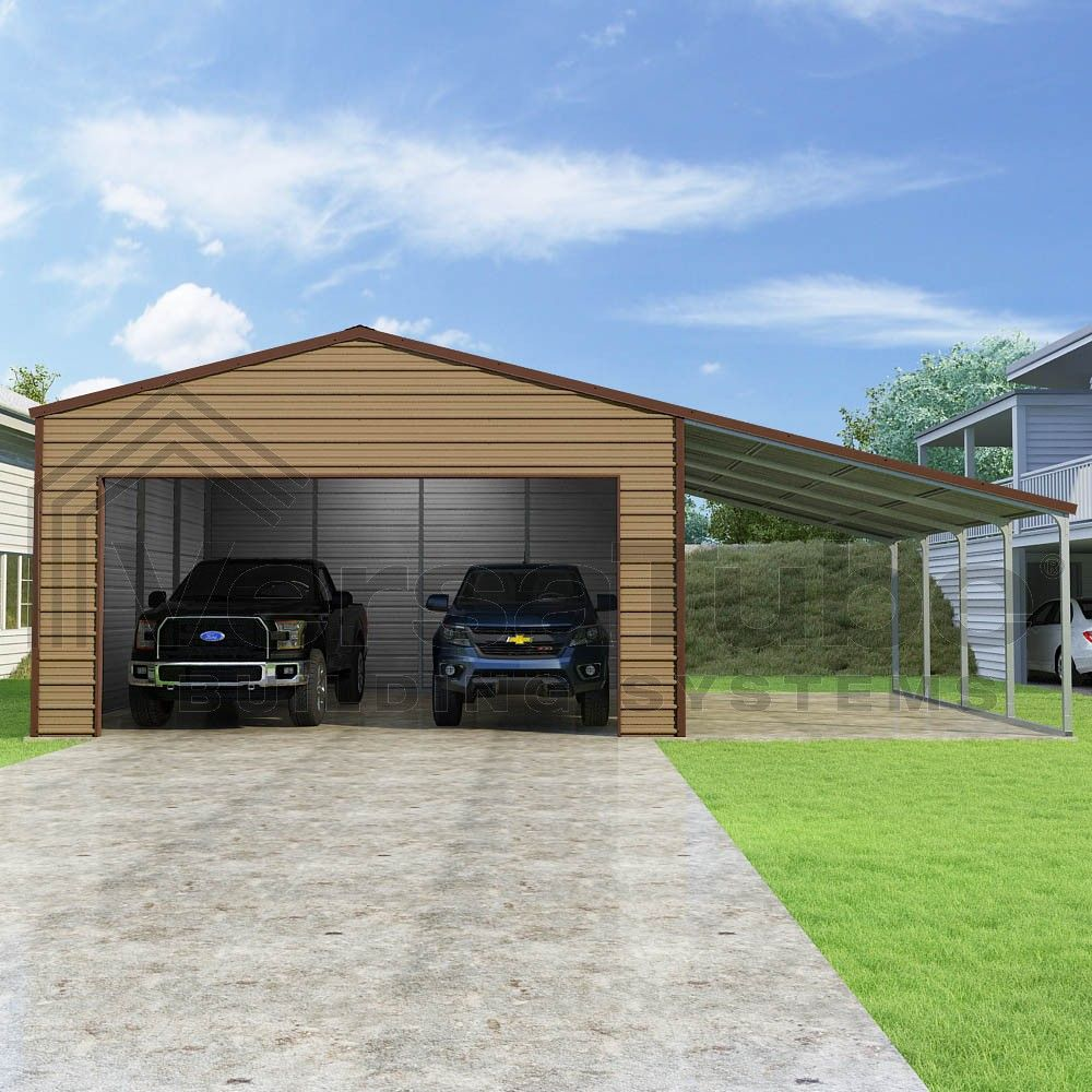 garage with leanto. Metal building kits, Lean