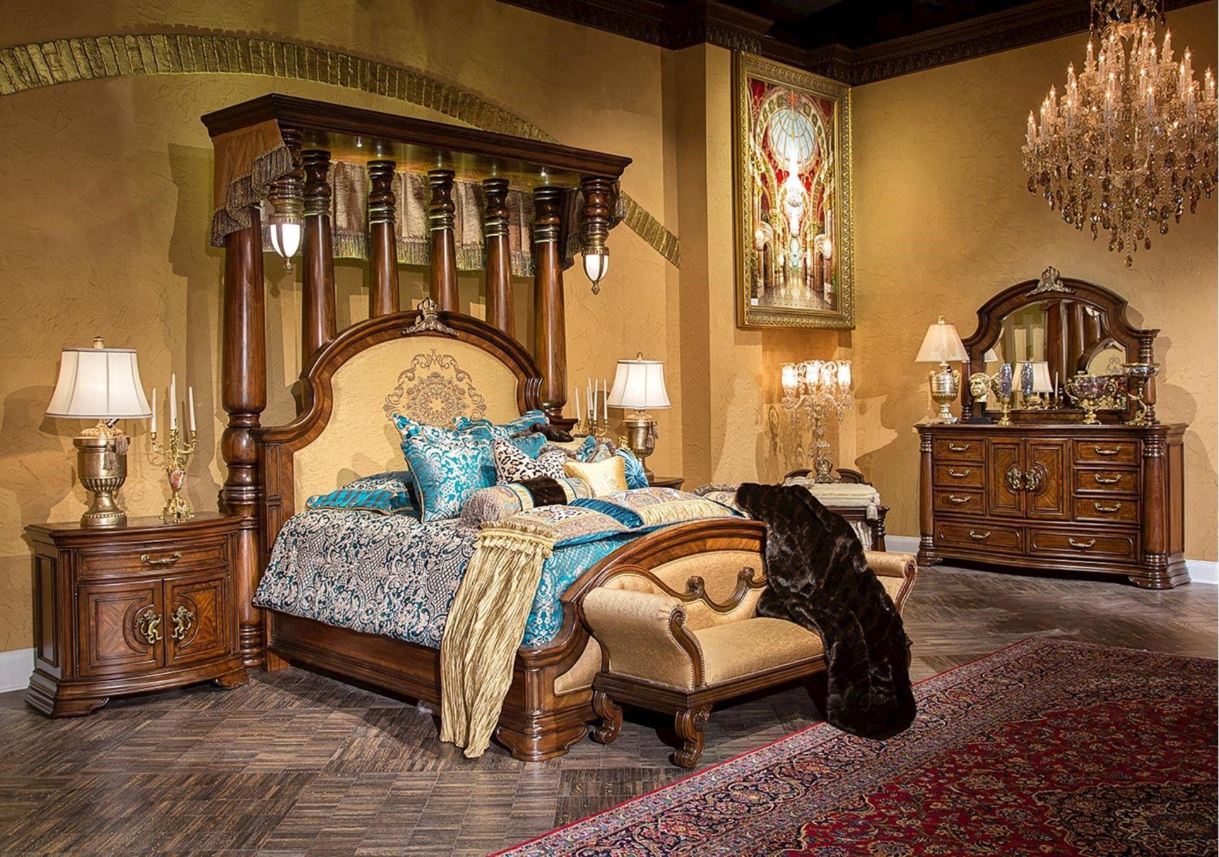 Lacks Grand Masterpiece 4 Pc King Bedroom Set Bedroom