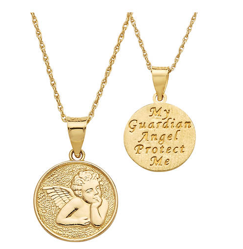 Guardian angel jewelry Guardian angel necklace Guardian angel pendant Little girl jewelry Little girl necklace Little girl pendant Girl gift