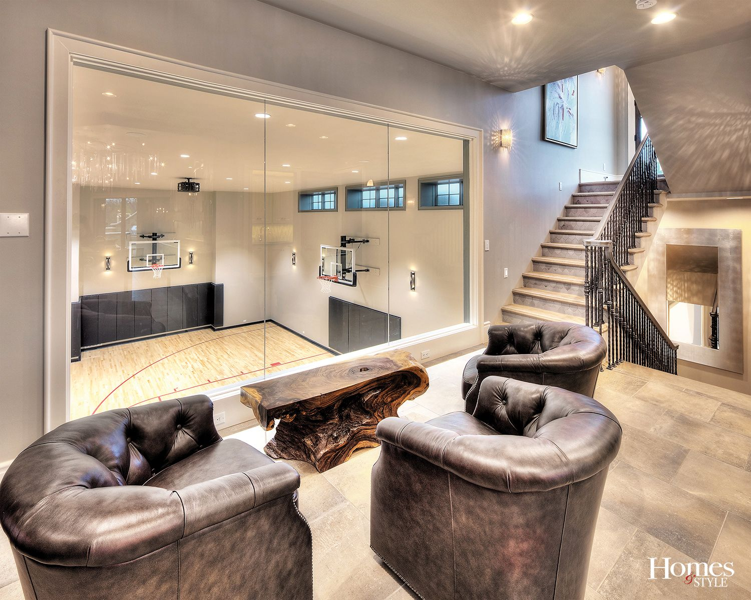 This Home Is Full Of So Much More Than Meets The Eye Consider For Example The Secret Spiral Slide Tucked Into A Lower Level Boo House Home Dream Home Design