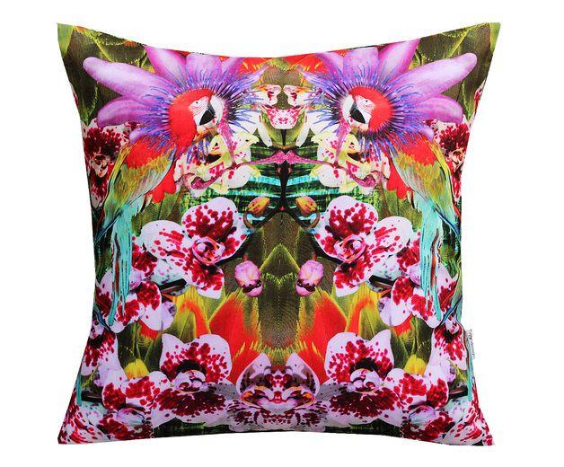 Egzotyczna z papugami - poszewka 45cm - ATdesign - Tekstylia
